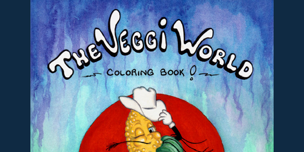 Veggi World Coloring Book